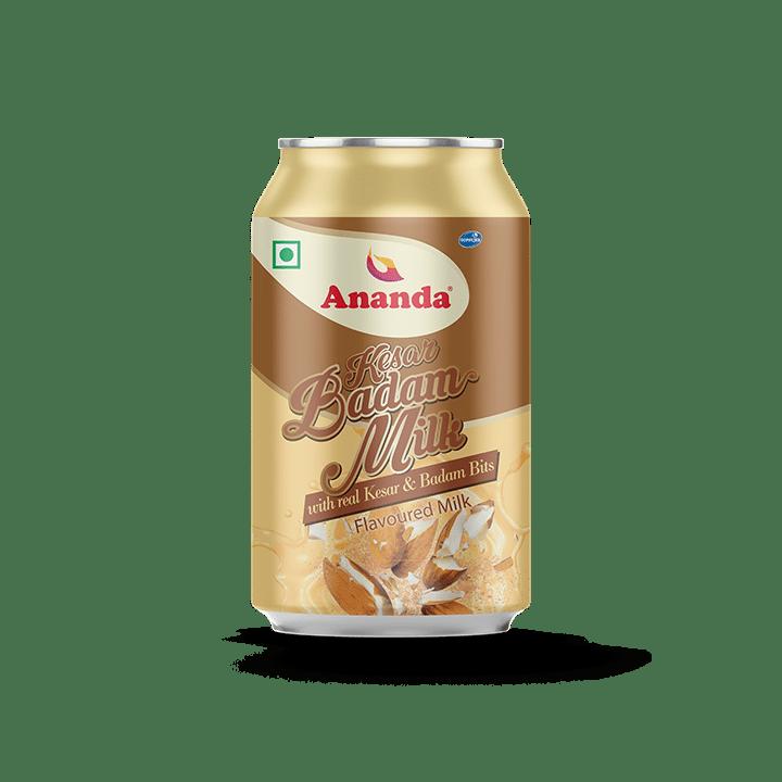 Kesar Badam Flavoured Milk Cans