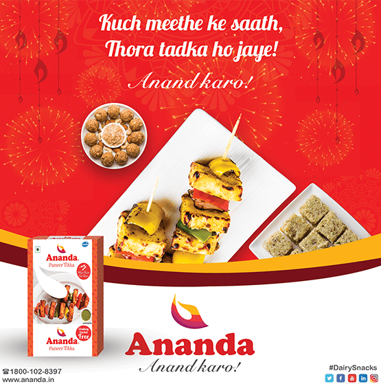 Ananda launched Ready to eat Paneer tikka for the first time in India